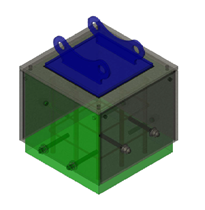 schematic rendering of proposed steel cap assembly