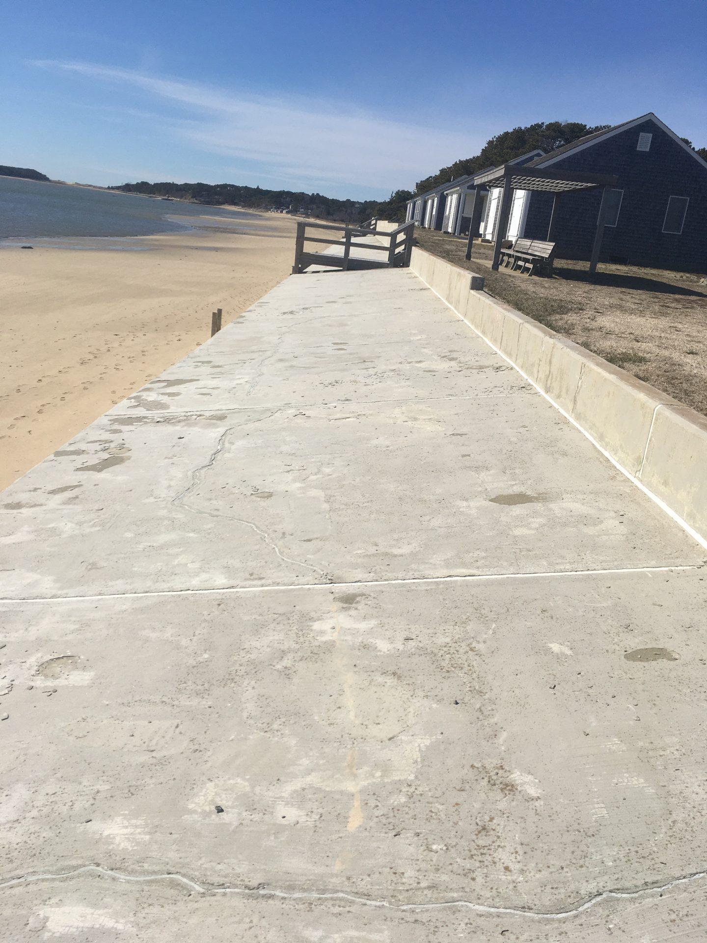 delaminated parge coast apron slab