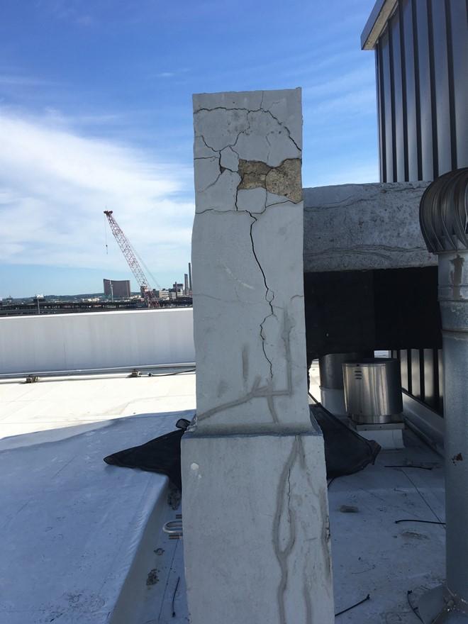 structural damage on condominium