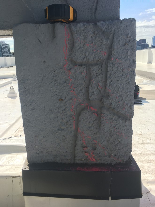 rout and seal repairs delaminated concrete